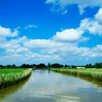 river, canal, water, countryside